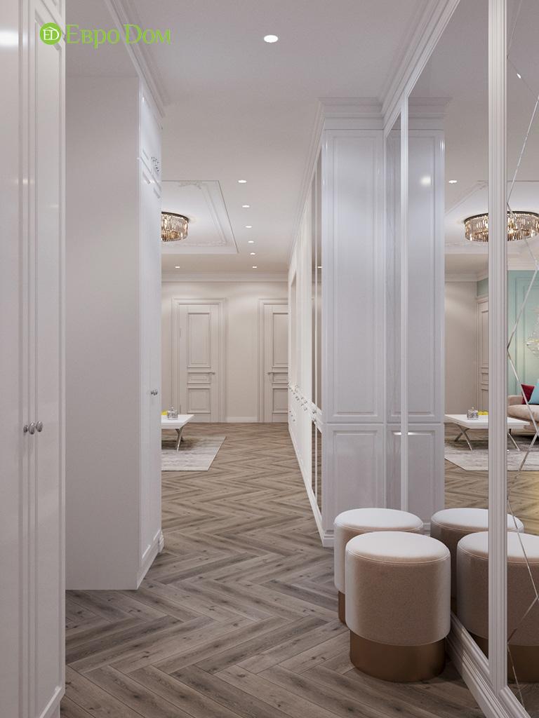 Дизайн четырехкомнатной квартиры с стиле неоклассика. Фото 032