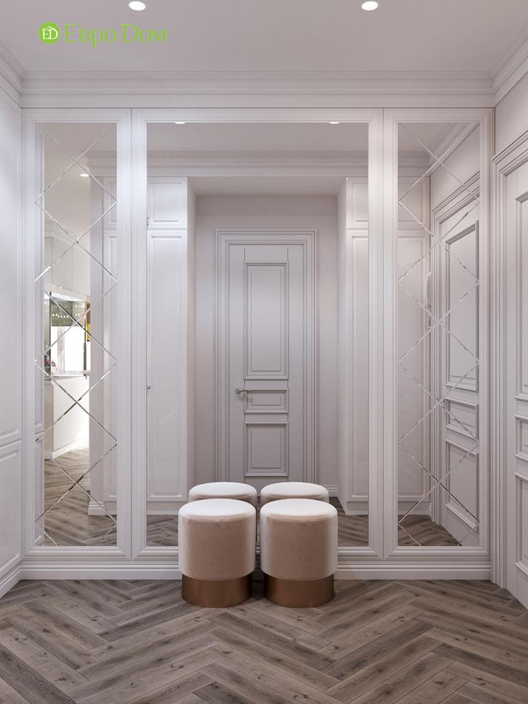 Дизайн четырехкомнатной квартиры с стиле неоклассика. Фото 033