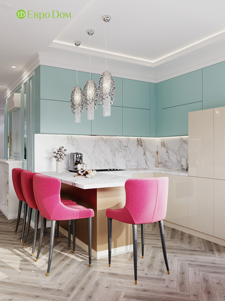 Дизайн четырехкомнатной квартиры с стиле неоклассика. Фото 05