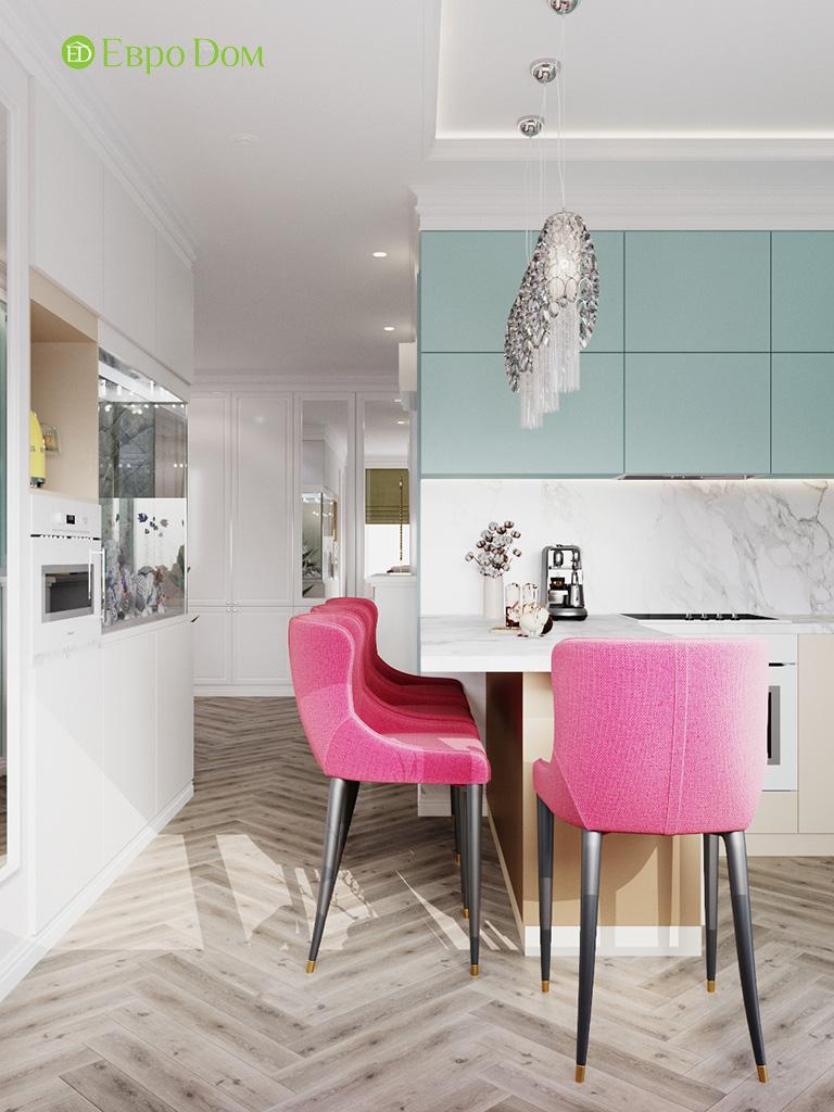 Дизайн четырехкомнатной квартиры с стиле неоклассика. Фото 034