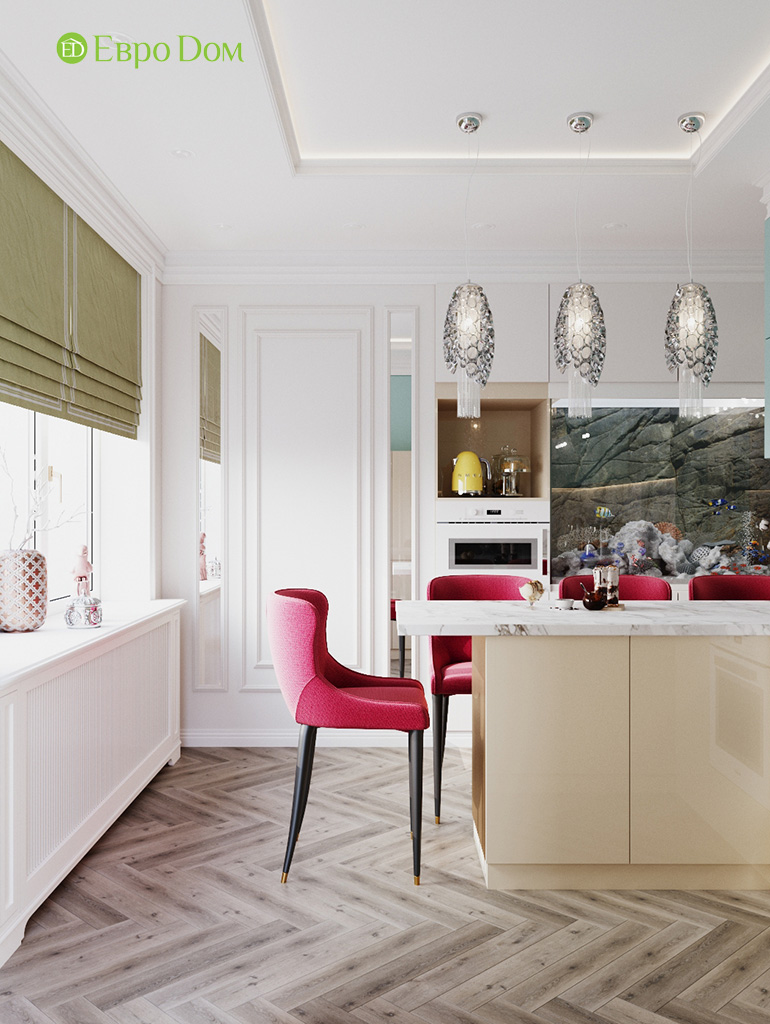 Дизайн четырехкомнатной квартиры с стиле неоклассика. Фото 035