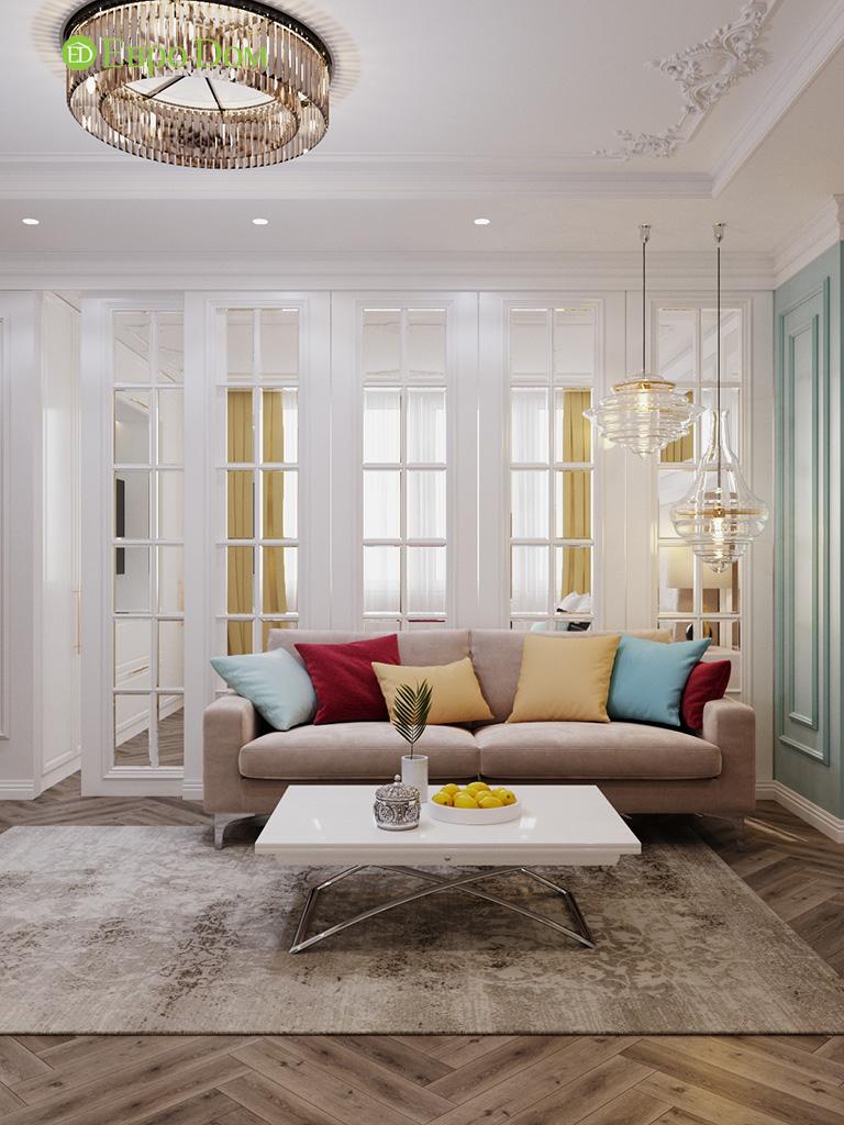 Дизайн четырехкомнатной квартиры с стиле неоклассика. Фото 046