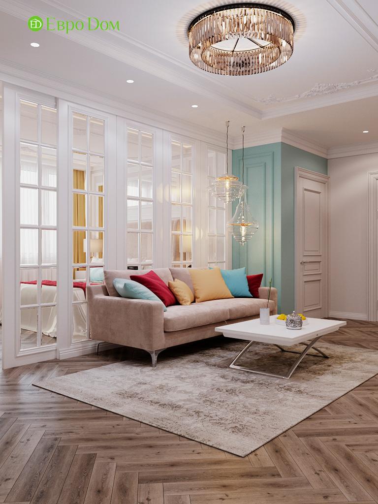 Дизайн четырехкомнатной квартиры с стиле неоклассика. Фото 047