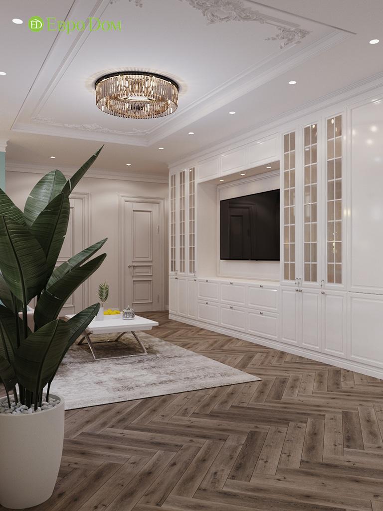 Дизайн четырехкомнатной квартиры с стиле неоклассика. Фото 048