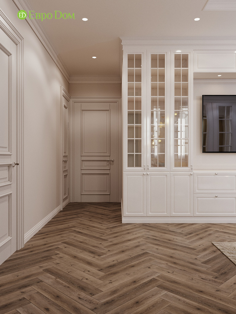 Дизайн четырехкомнатной квартиры с стиле неоклассика. Фото 049