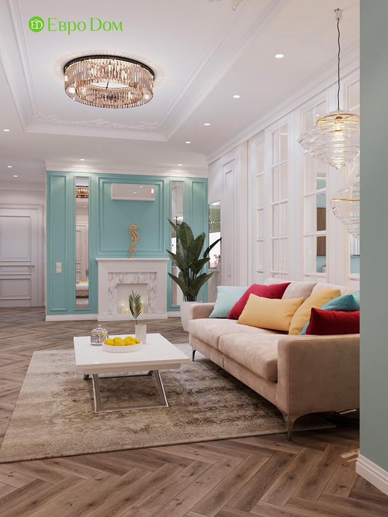 Дизайн четырехкомнатной квартиры с стиле неоклассика. Фото 050