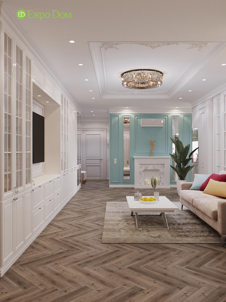 Дизайн четырехкомнатной квартиры с стиле неоклассика. Фото 051