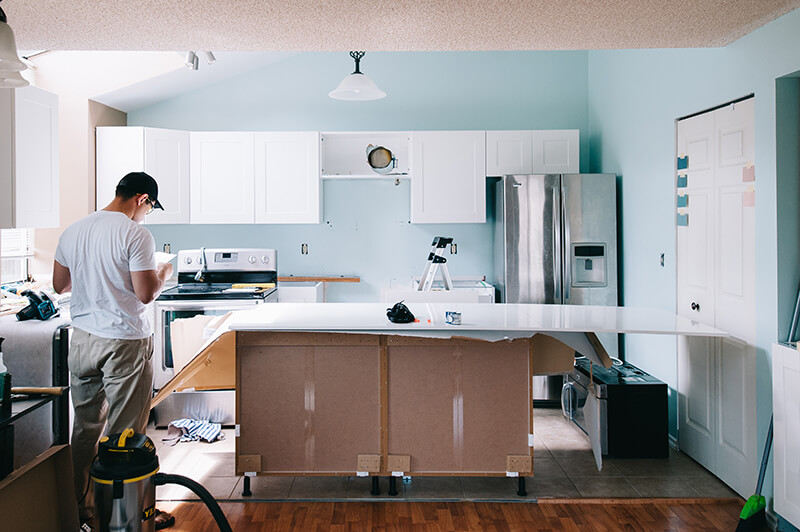 Монтаж кухни при перепланировке