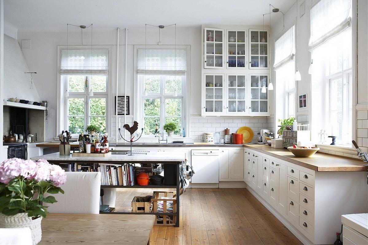 На фото 1: Кухня в скандинавском стиле