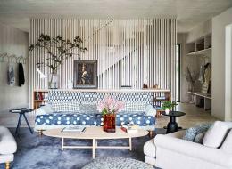 Дизайн загородного дома. Интерьер гостиной