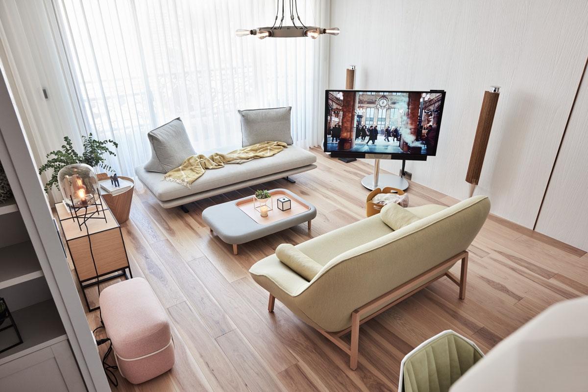 Японская мебель в гостиной