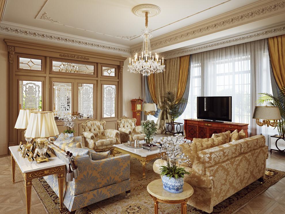 Классический английский стиль в дизайне интерьера гостиной