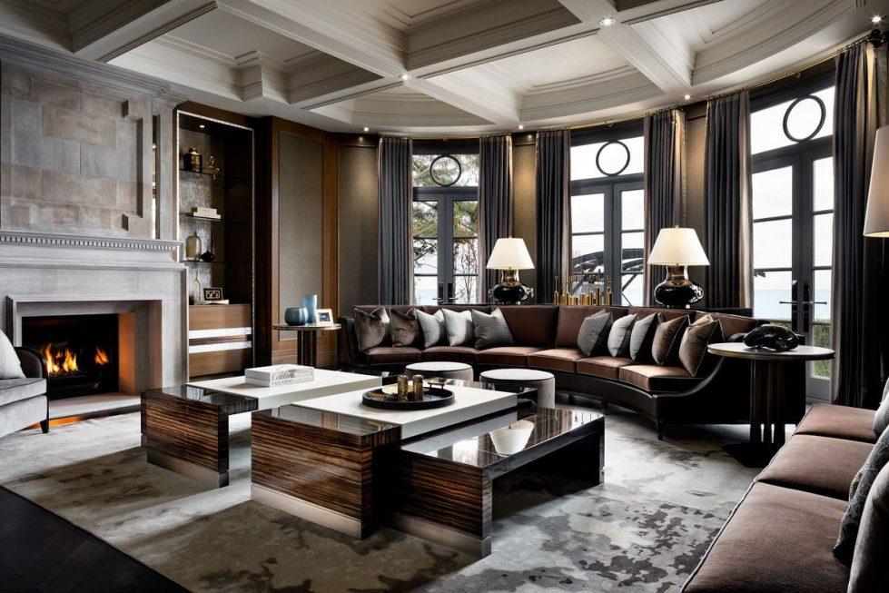 Квартира в современном английском стиле с элементами ар-деко