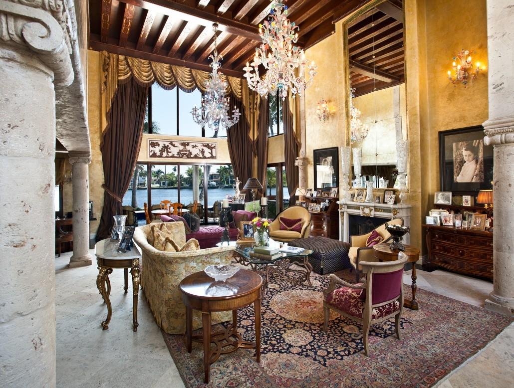 Гостиная в стиле барокко с необычным дизайном 2020 года