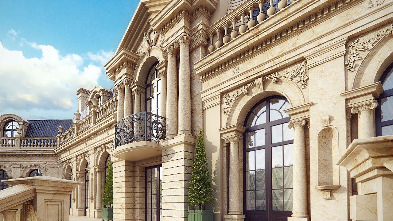 Особняк в стиле барокко с колоннами