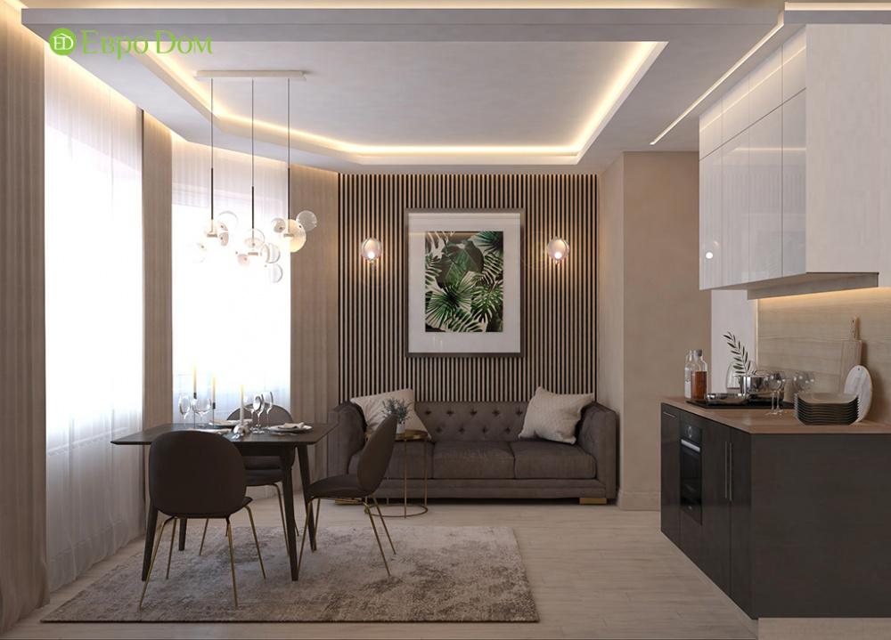 Дизайн однокомнатной квартиры в современном стиле: 12 фото проекта