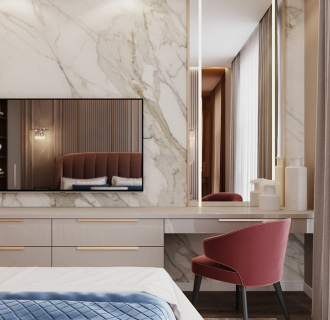 Дизайн трехкомнатной квартиры 95 кв. м в стиле неоклассика. Фото проекта