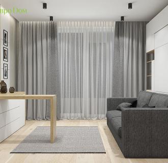 Дизайн трехкомнатной квартиры 106 кв. м в современном стиле. Фото проекта