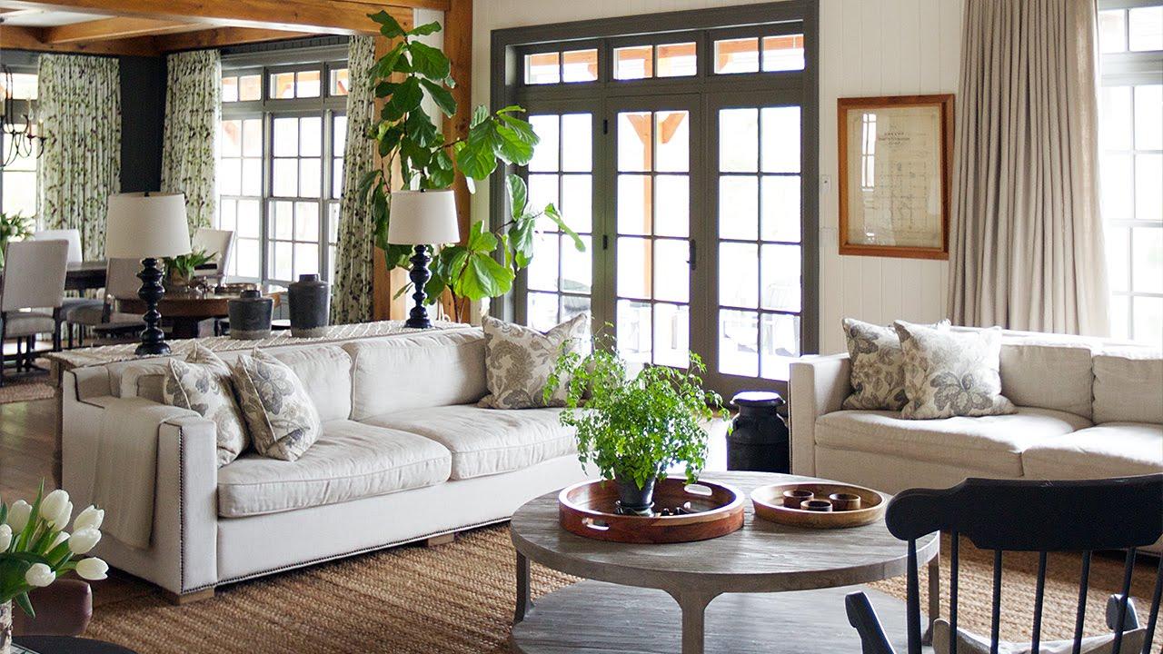 Загородный интерьер дома в деревенском стиле