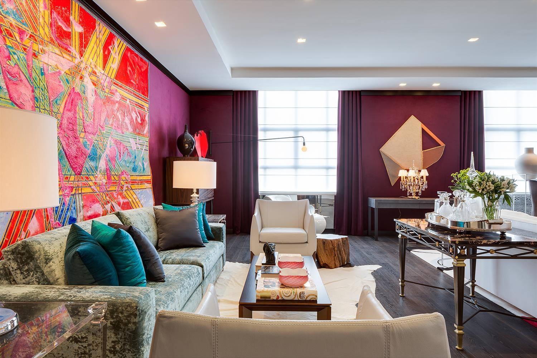 Дизайн интерьера гостиной комнаты в стиле эклектика