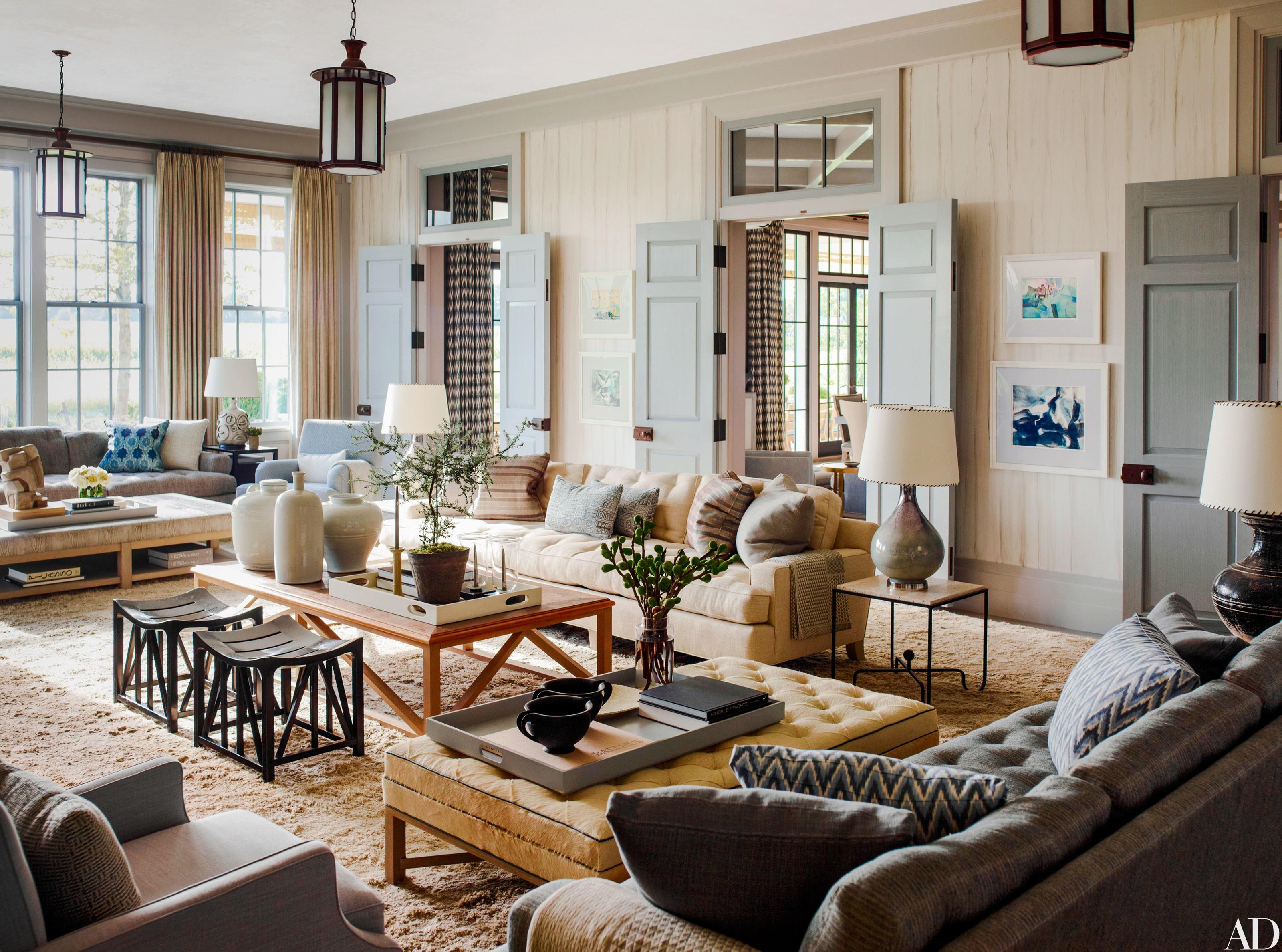 Эксклюзивный интерьер гостиной в особняке