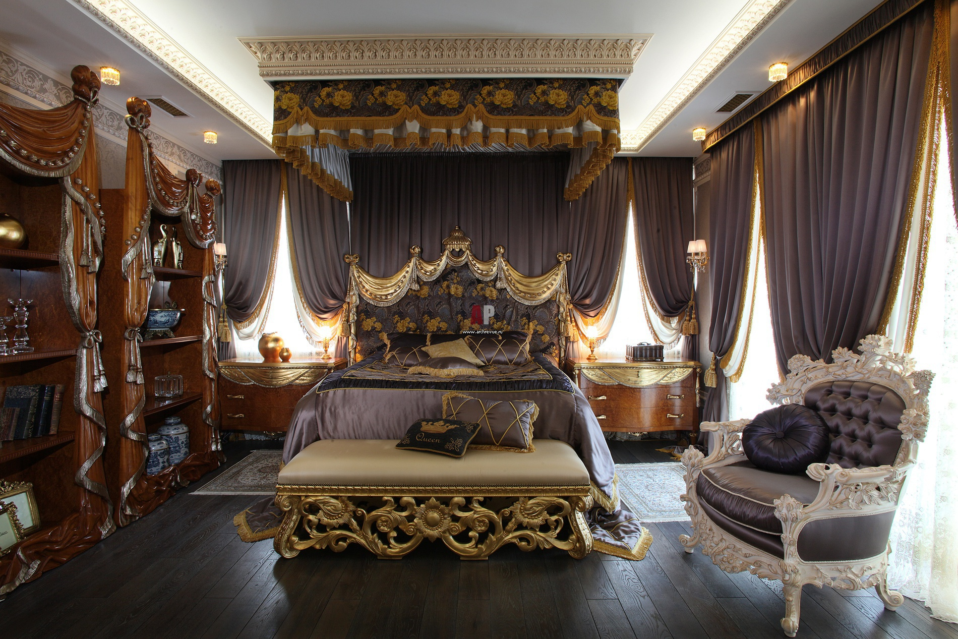 Неприкрытая роскошь в интерьере спальни