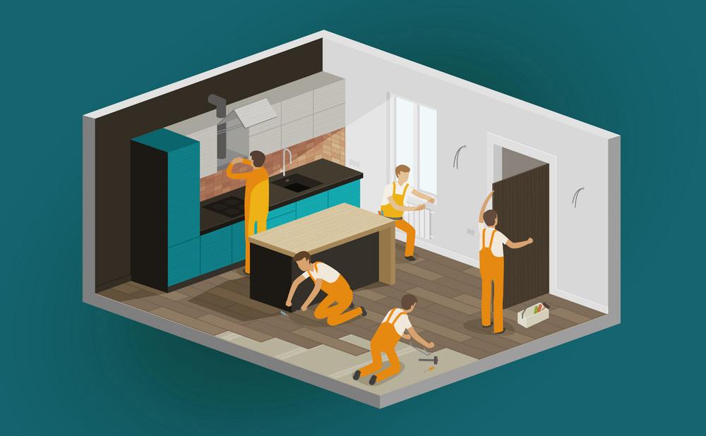 Семь этапов проведения ремонтных работ при ремонте новостройки с нуля