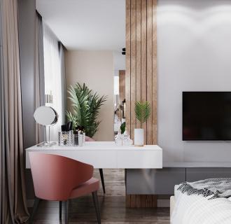 Дизайн интерьера 2-комнатной квартиры 63 кв. м в современном стиле. Фото проекта